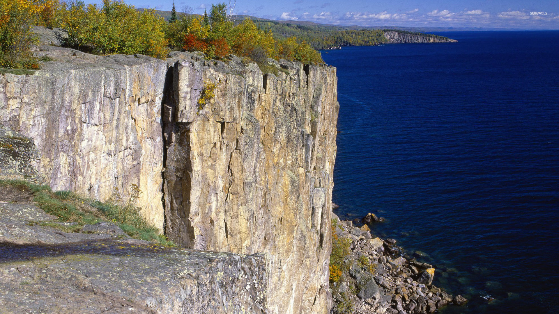 Fall Mountain Scenery Wallpaper Palisade Head Lake Superior Wallpaper Nature Wallpapers