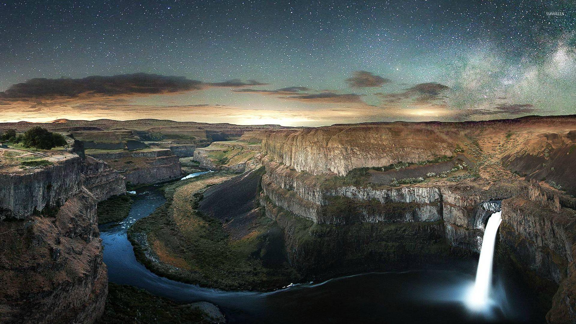 Fall Waterfall Wallpaper Palouse Falls And Colorado River Washington Wallpaper