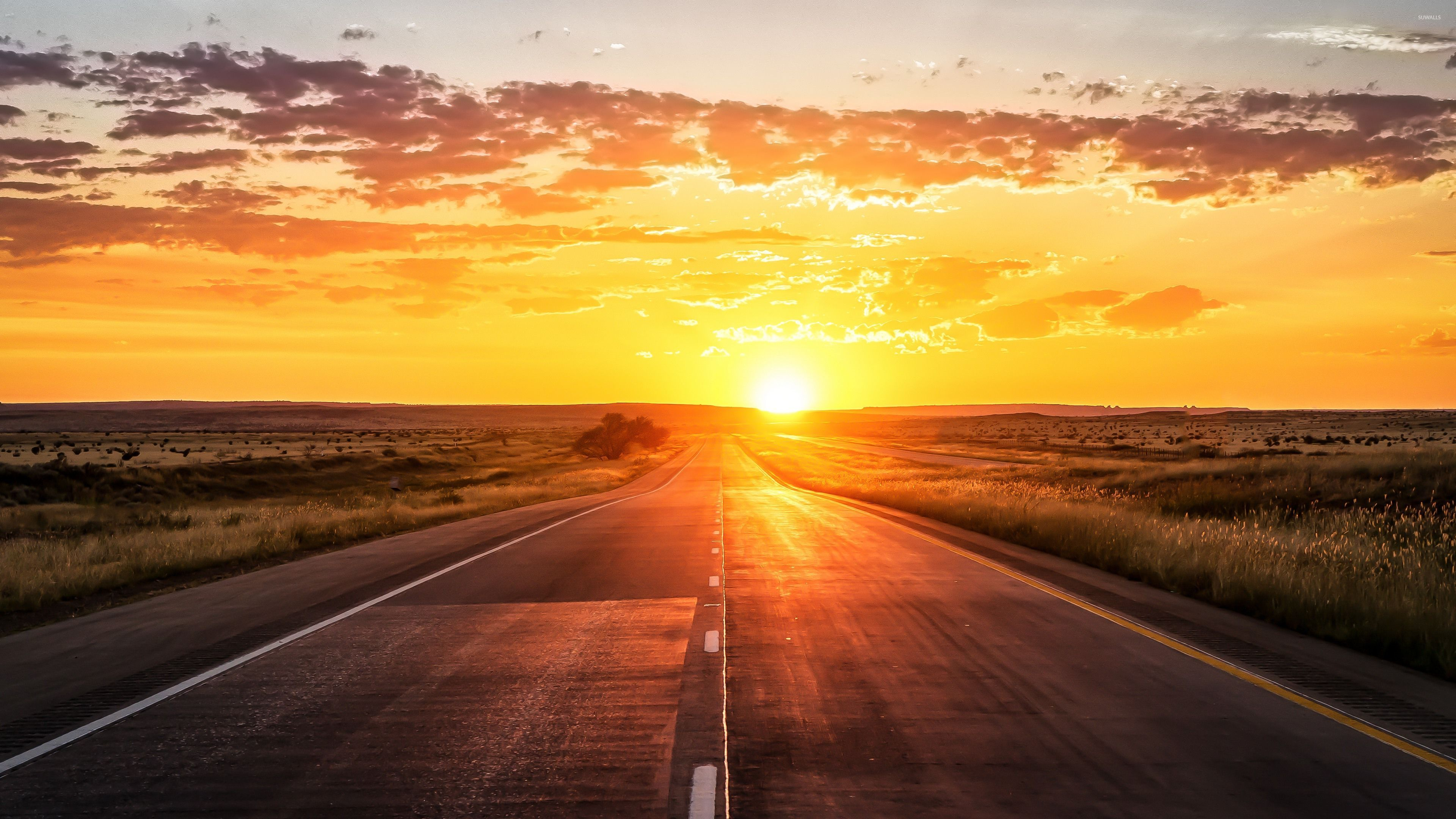 Bible Quotes Wallpaper Desktop Road Towards The Golden Sunset Wallpaper Nature