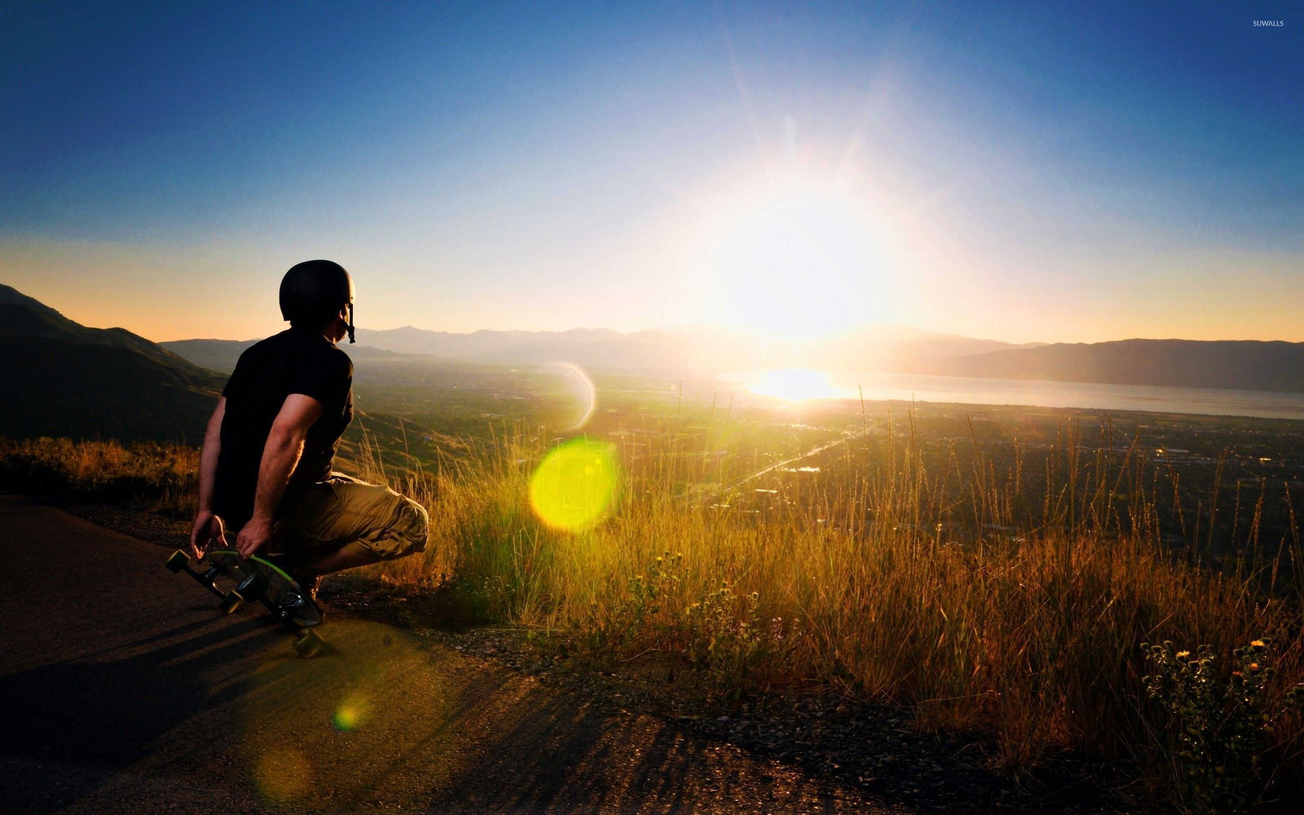 Hd Motorcycle Wallpaper Widescreen Skater Watching The Sunset Wallpaper Photography