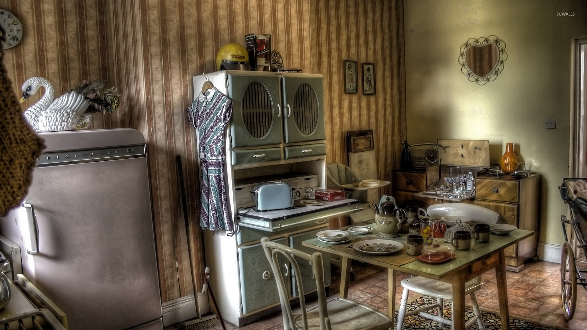 Free Country Fall Wallpaper Vintage Kitchen 2 Wallpaper Photography Wallpapers