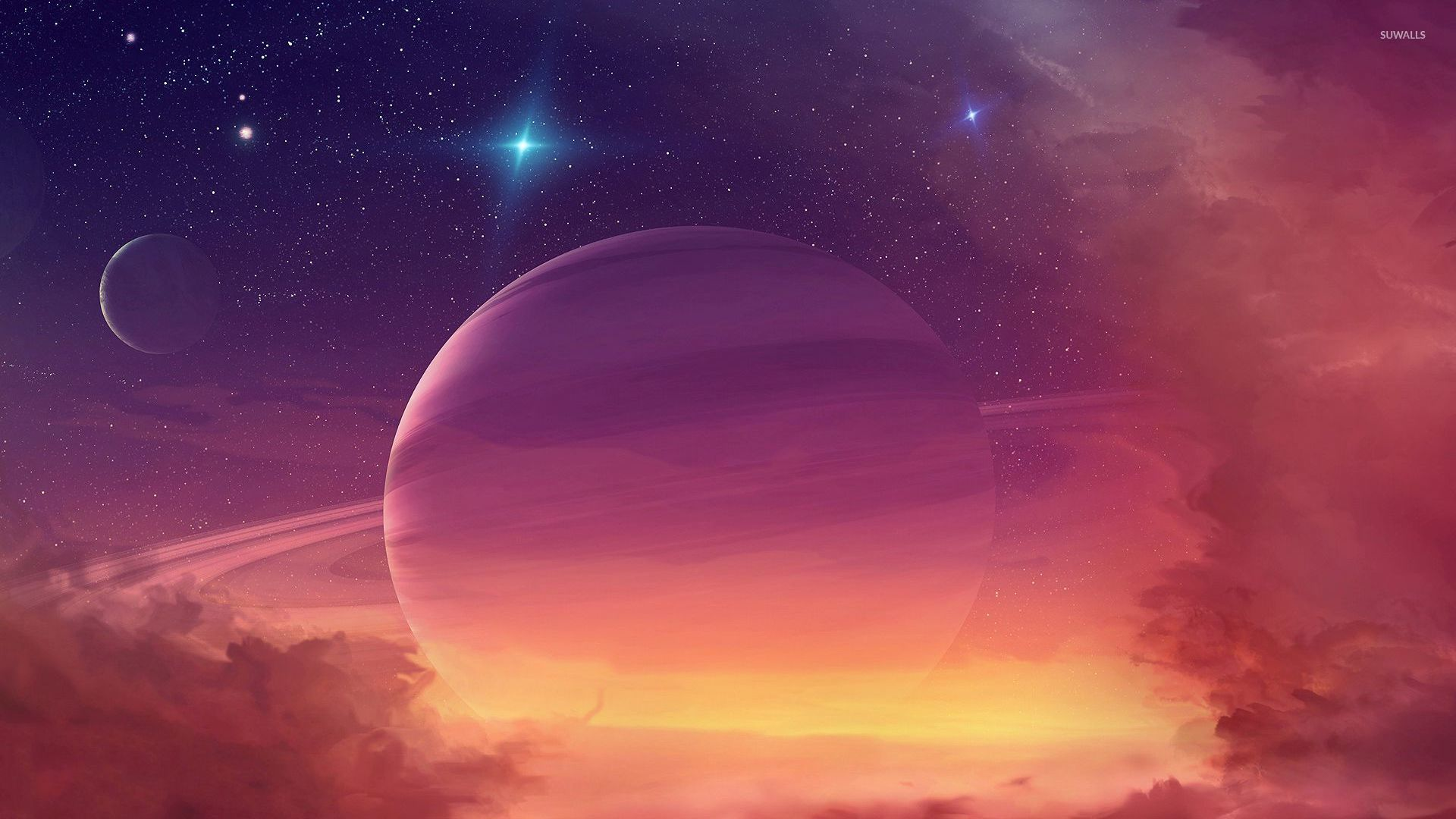Light Pink Wallpaper Quotes Planet In The Clouds Wallpaper Space Wallpapers 32662