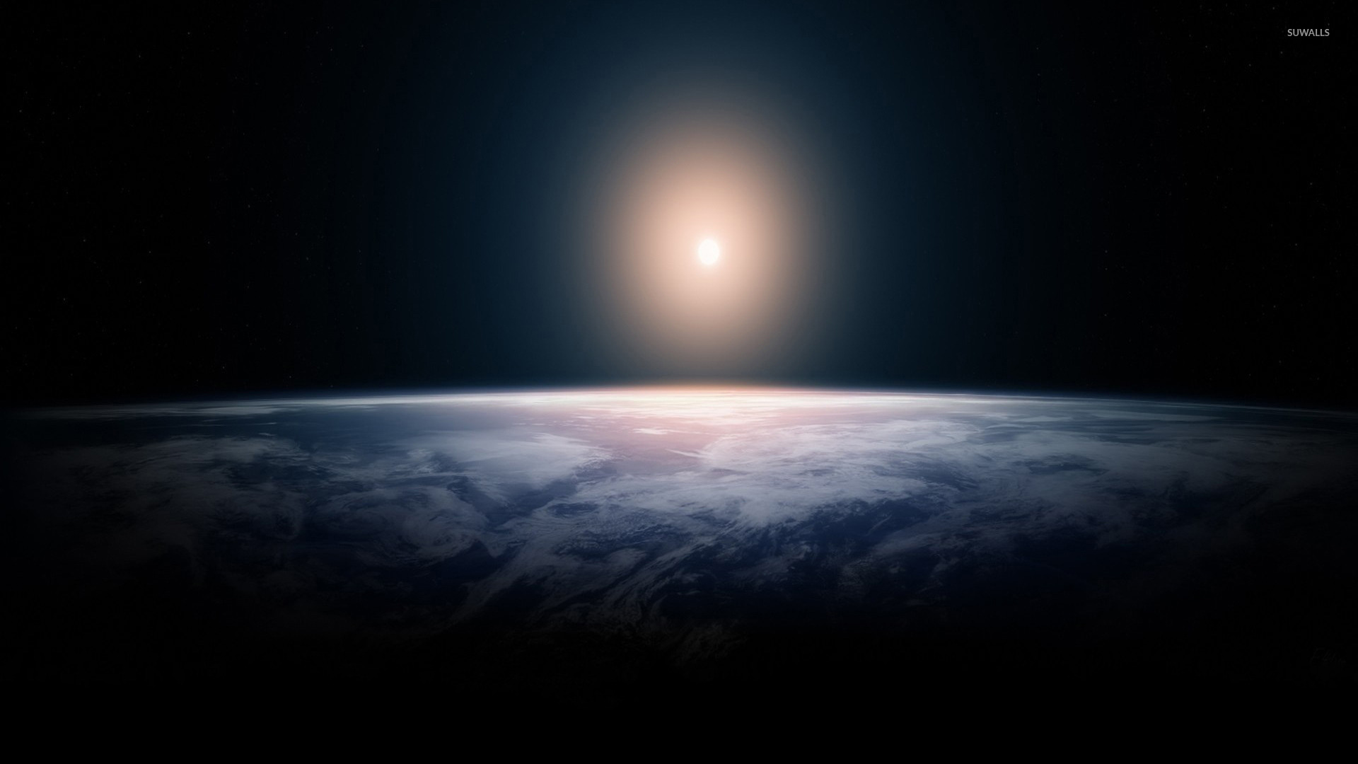 Iss Hd Wallpaper The Sun In The Horizon Wallpaper Space Wallpapers 45604
