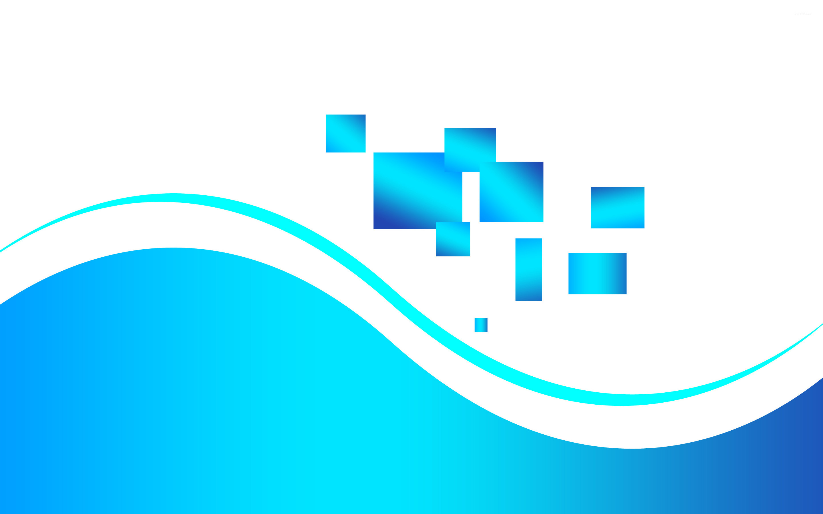 Teal Wallpaper With Quotes Blue Squares And Waves Wallpaper Vector Wallpapers 25209