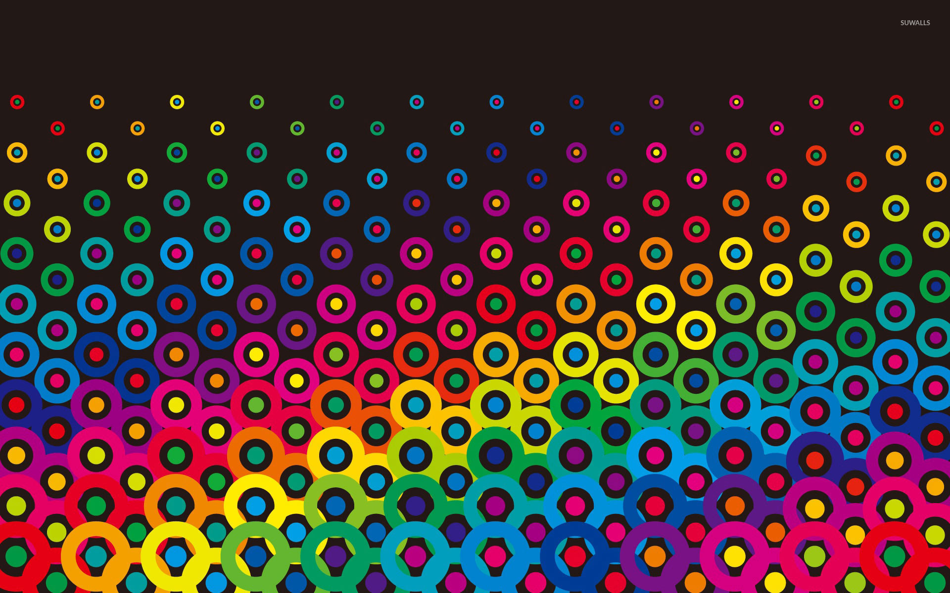 Neon Fall Wallpapers Colorful Retro Circles Wallpaper Vector Wallpapers 18628