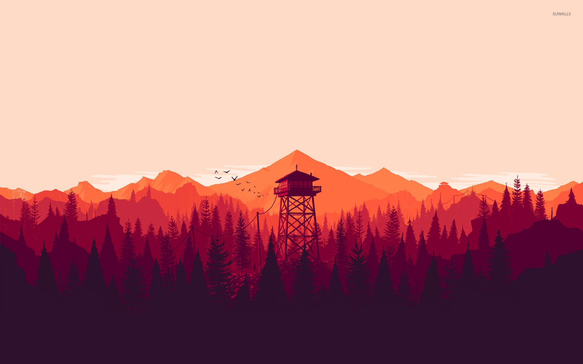 Music Quotes Wallpaper Download Fire Lookout Tower Wallpaper Vector Wallpapers 29077
