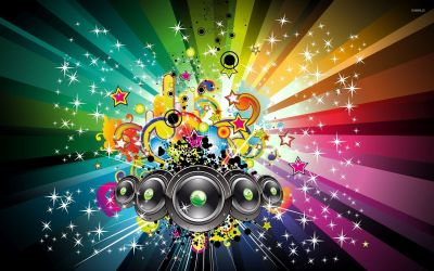 Magic of the music wallpaper - Vector wallpapers - #52443