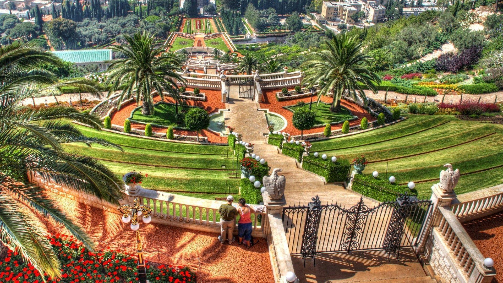 Bahai Quotes Wallpaper Hanging Gardens Of Haifa Israel Wallpaper World
