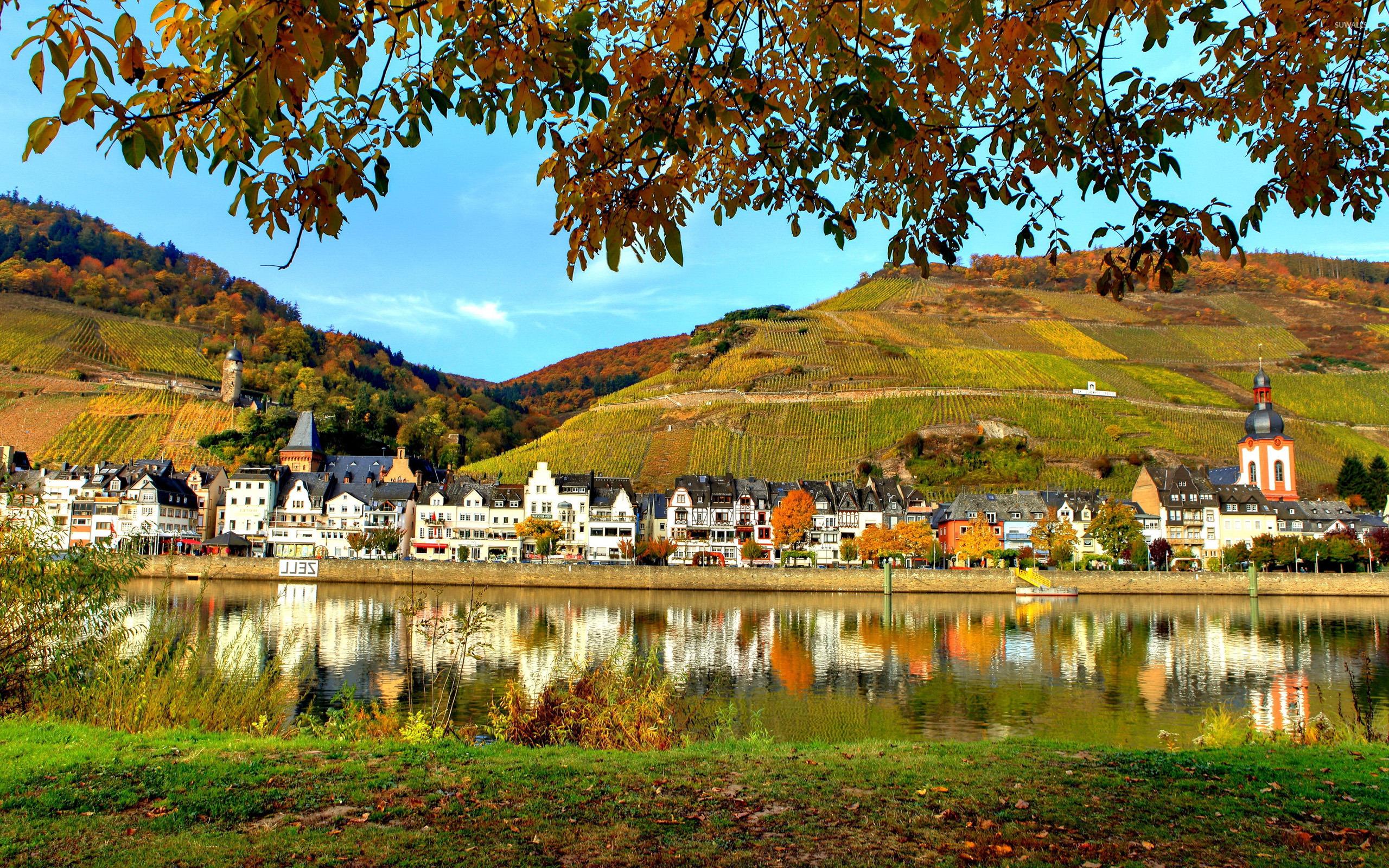 Fall Flowers Wallpaper Desktop Peaceful Town Wallpaper World Wallpapers 35590