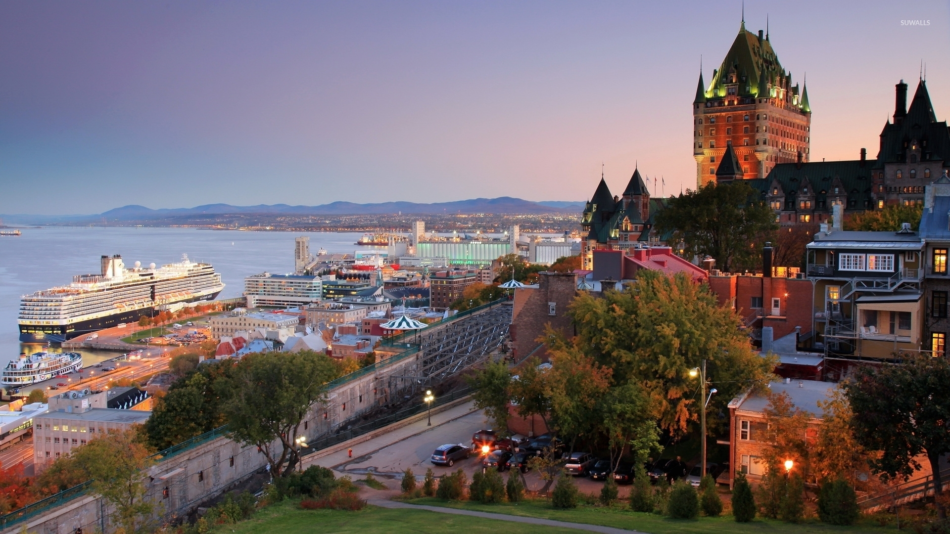 Typography Quotes Wallpaper Quebec City At Sunset Wallpaper World Wallpapers 52000