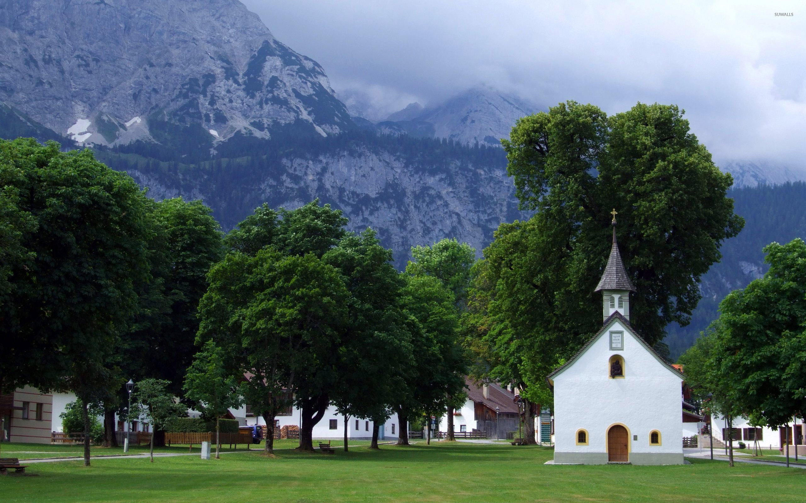 Funny Wallpapers Nature With Small Quotes Small Church In A Mountain Town Wallpaper World