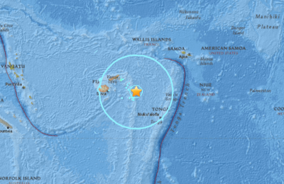 No Danger Expected from Magnitude 8.2 Earthquake Near Fiji