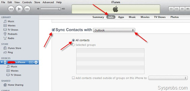 Guide How to Transfer Contacts From Android to iPhone 4 - by