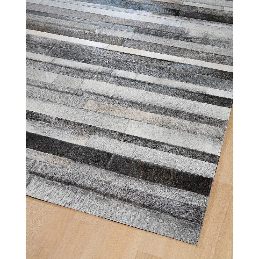 Tapis Gris Marron Tapis En Patchwork De Cuir Gris Jacob Home Spirit