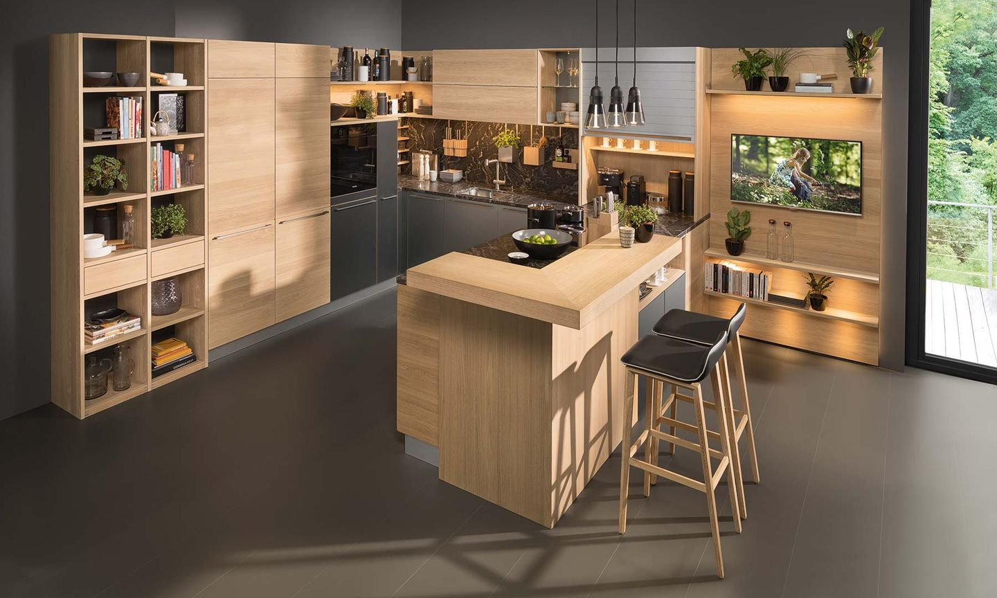 Küche Modern Side By Side Linee Kitchen The Kitchen All Rounder Team 7