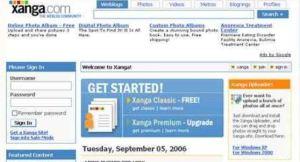 Xanga home page
