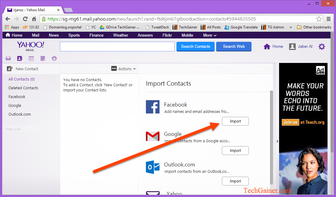 how to find facebook friends on twitter gmail