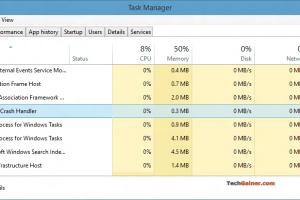 Chrome Crash Handler running in Task Manager