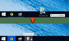Pin a folder or drive directly to Taskbar