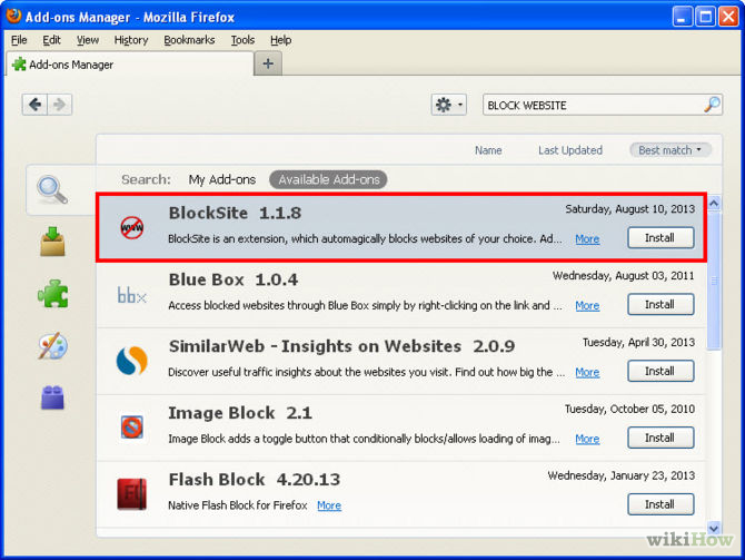 How to block websites on mozilla ltt how to block websites on mozilla once you install respective add on and open it it will give you any ccuart Image collections