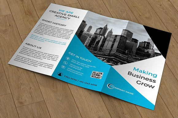 Brochure Make A Business Statement