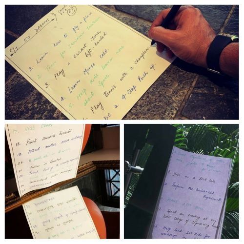 Gone Travelling Blog Sushant Singh Rajput 39;s Handwritten List Of 50 Dreams Goes