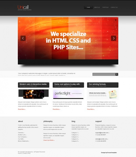 Unicall-Cuber - HTML Template - Corporate/Business - Website - interactive website template