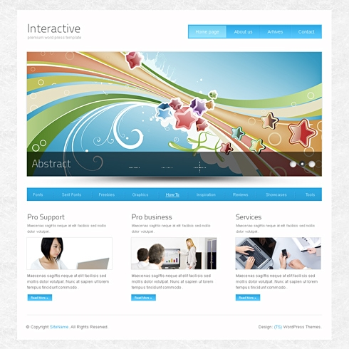InterActive - Website Template - Blog Style - Website Templates - interactive website template