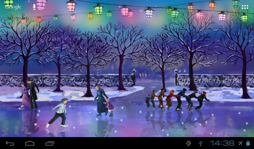 Zedge 3d Moving And Live Wallpapers Christmas Rink Live Wallpaper H 236 Nh Nền Gi 225 Ng Sinh