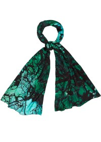 Weston Scarves Turquoise Forest Silk Scarf - Turquoise