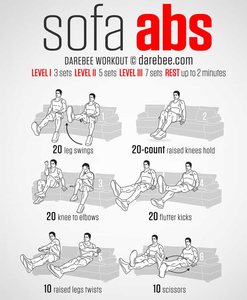 Sofa Workout 20 Wonderful Workout Tips For The Extremely Lazy Travel My Day Blog