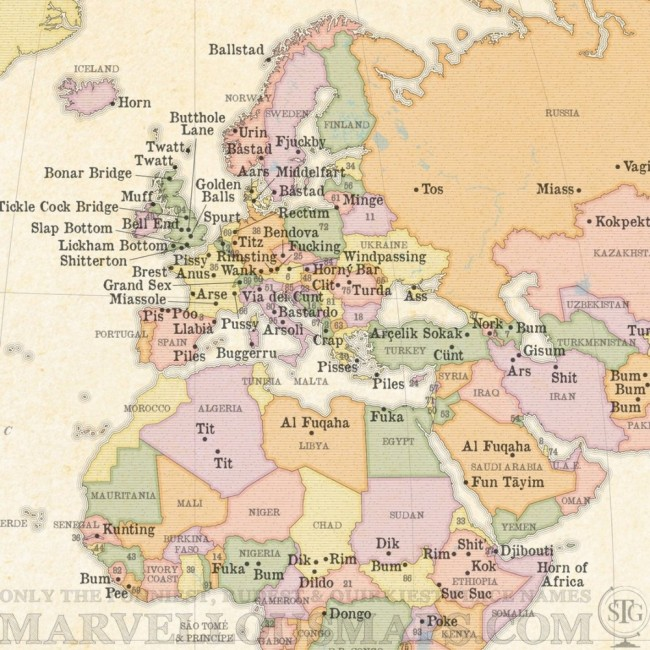 This Rude Map of the World Will Make You Laugh Hard