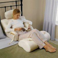 The BedLounge Hypoallergenic Bed Rest Pillow  Gadget Flow