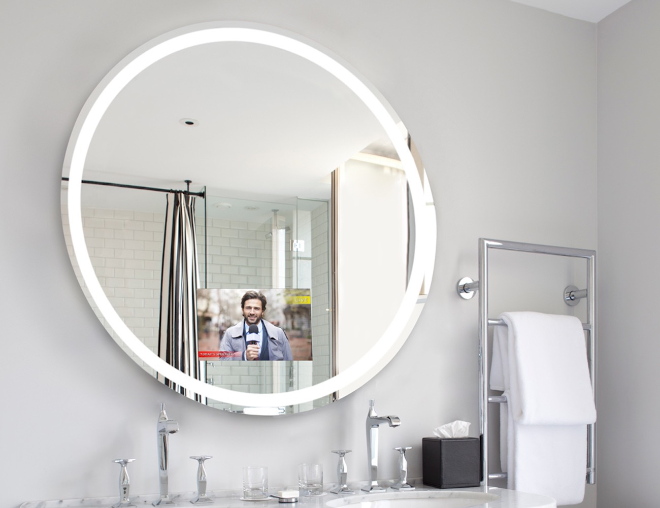 Bathroom Mirrors With Tv Built In Gadget News 6 Mar 2016 15 Minute News Know The News