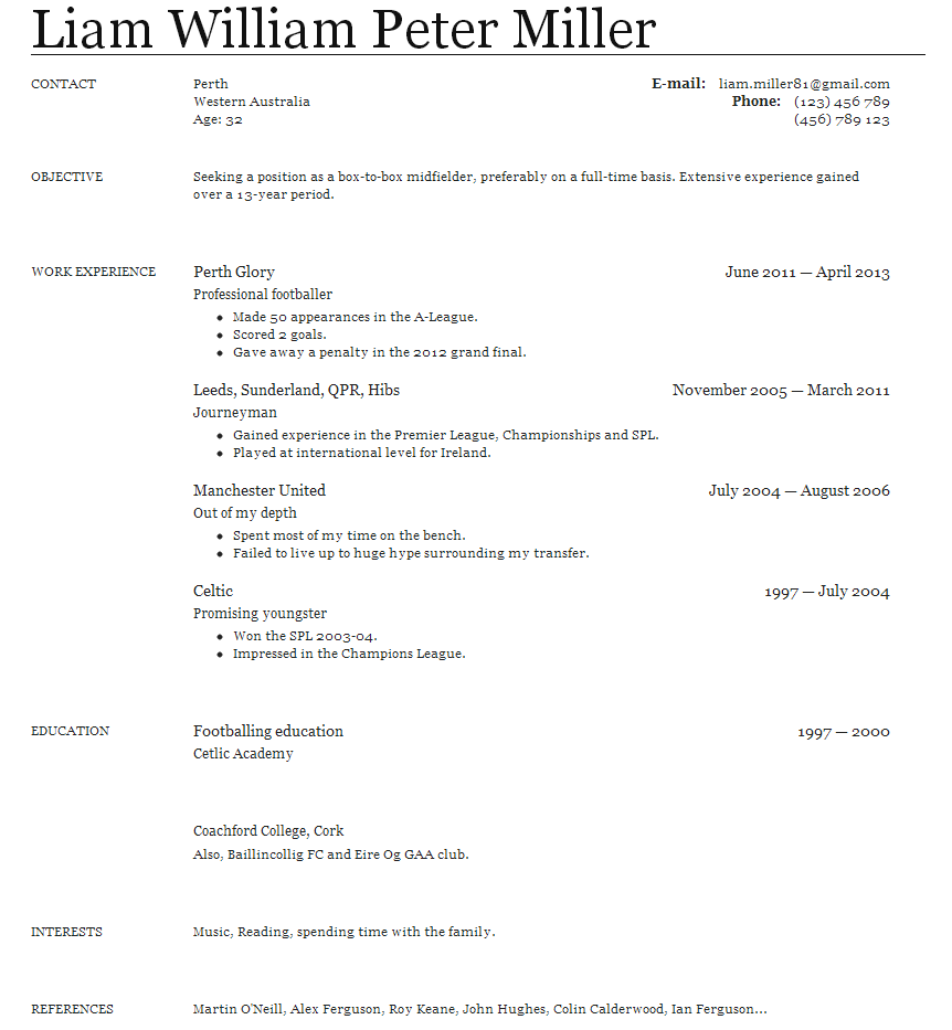 Sample Teacher Resume  Bradley CVs
