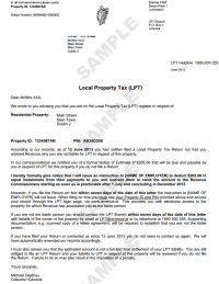 If you've not paid the property tax, Revenue is sending ...