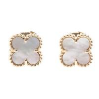 Van Cleef & Arpels Sweet Alhambra Mother of Pearl Stud ...