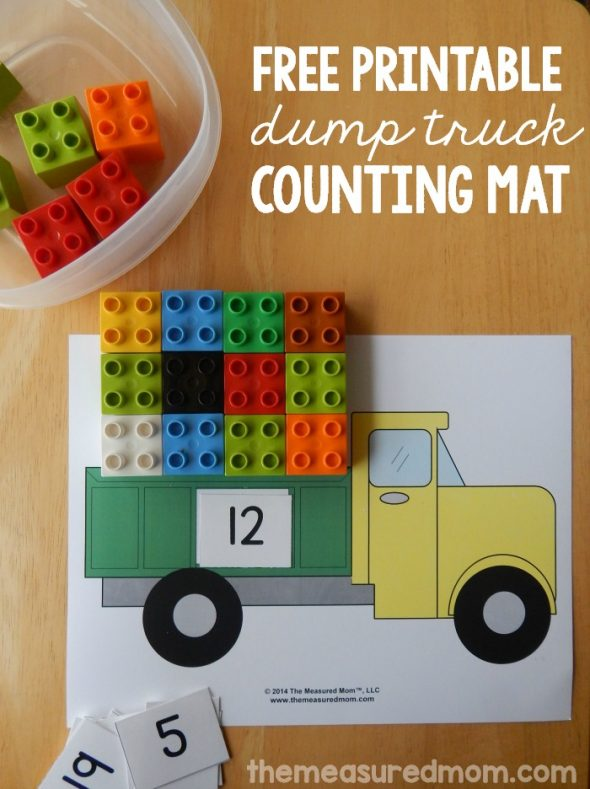 Free printable counting mat - The Measured Mom