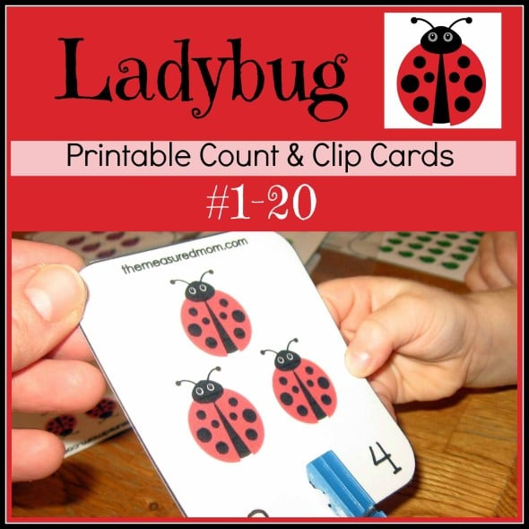 Printable Counting Activity for Preschoolers Ladybug Count  Clip