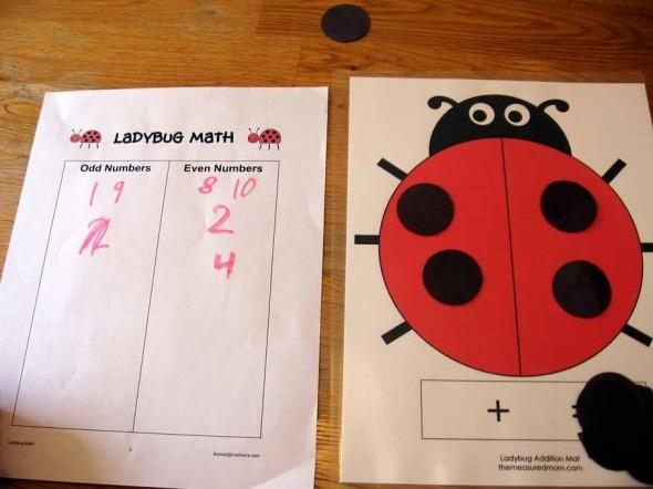 Ladybug Math for Preschool, Kindergarten  1st Grade - The Measured Mom