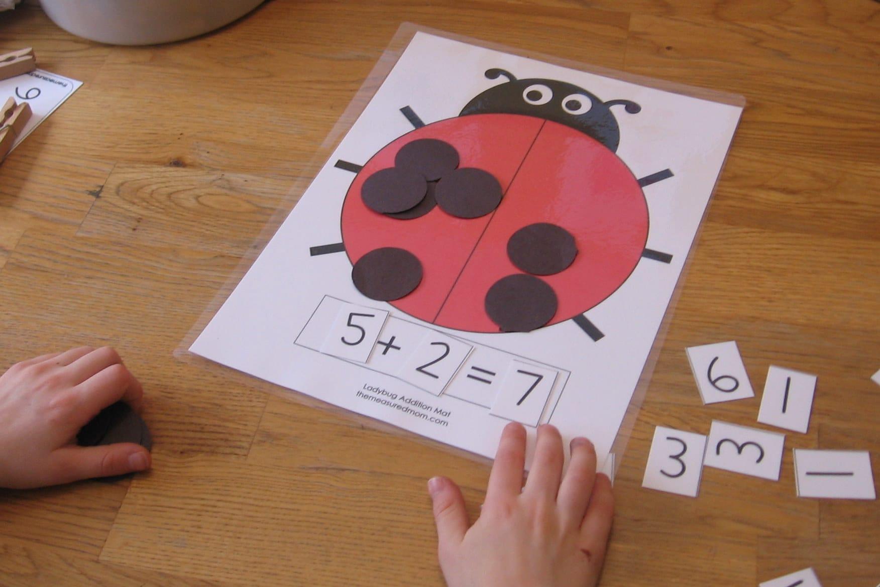 Ladybug Math For Preschool Kindergarten 1st Grade The
