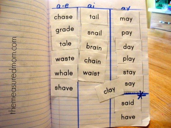 Spelling long a words - a complete 5-day lesson plan (with - lesson plan words