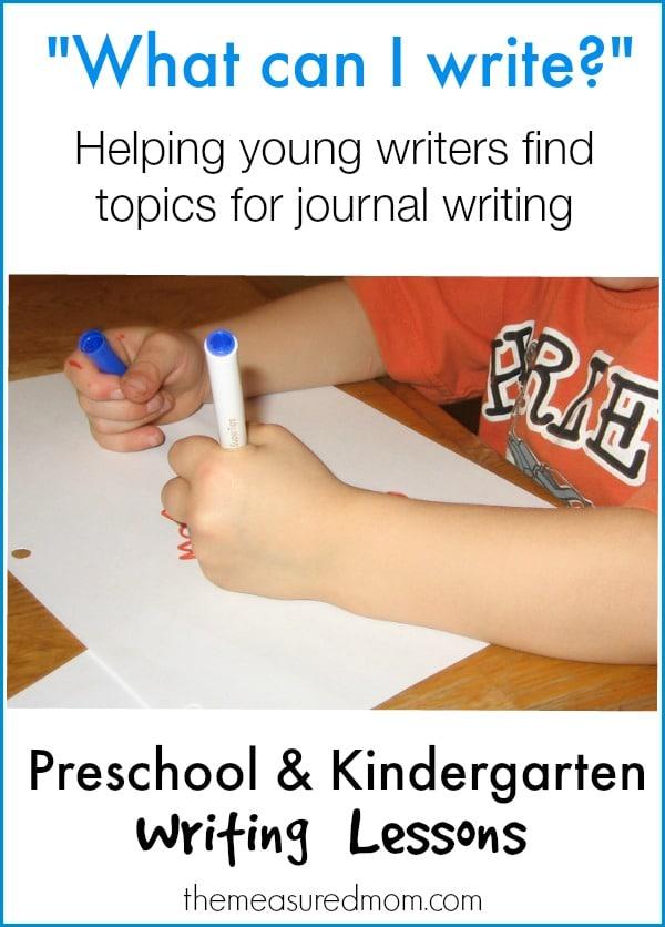 Journal Topics in Preschool  Kindergarten - The Measured Mom
