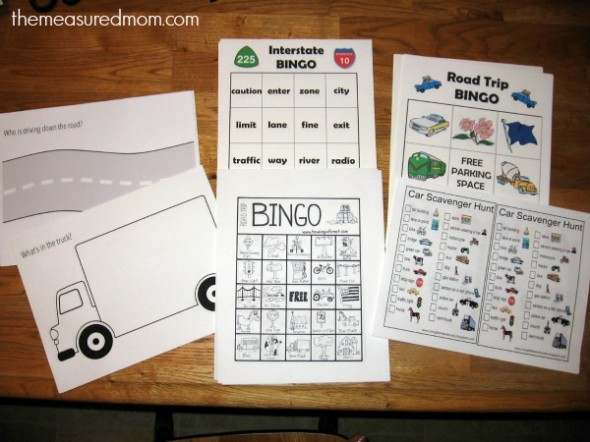 Road Trip Activities for Kids Ages 2-8 - The Measured Mom - printable preschool worksheet