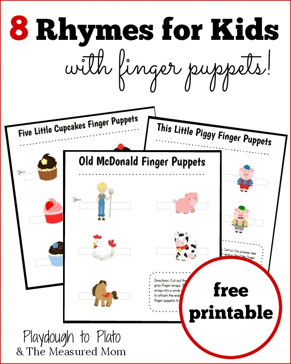 8 Rhymes for Kids - with Finger Puppets! - The Measured Mom