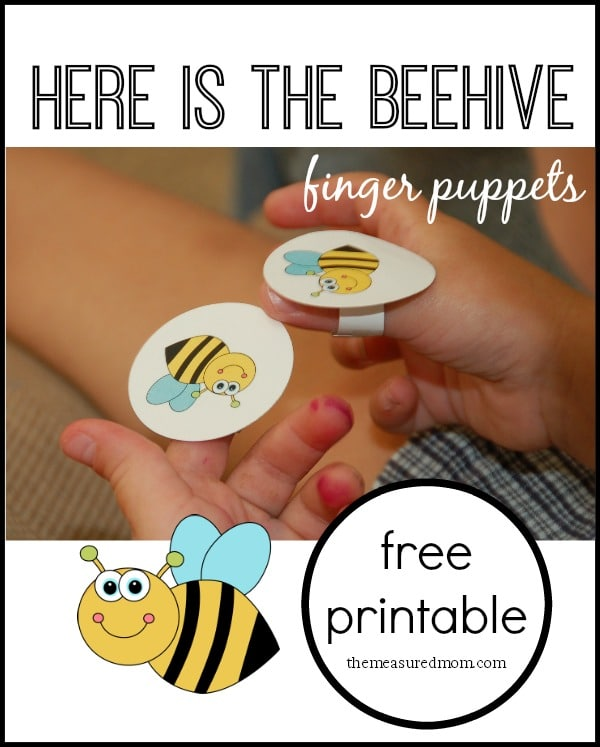 Here is the Beehive rhyme for kids (with finger puppets) - The
