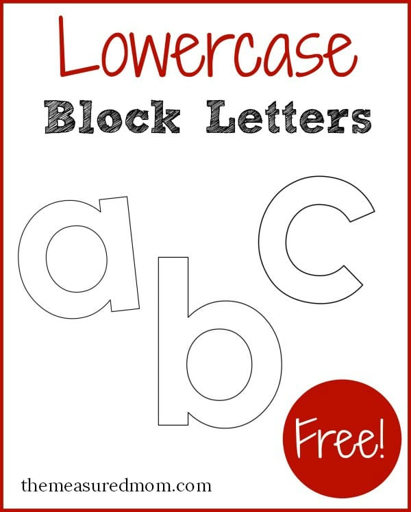 Free printable letters in lowercase! - The Measured Mom