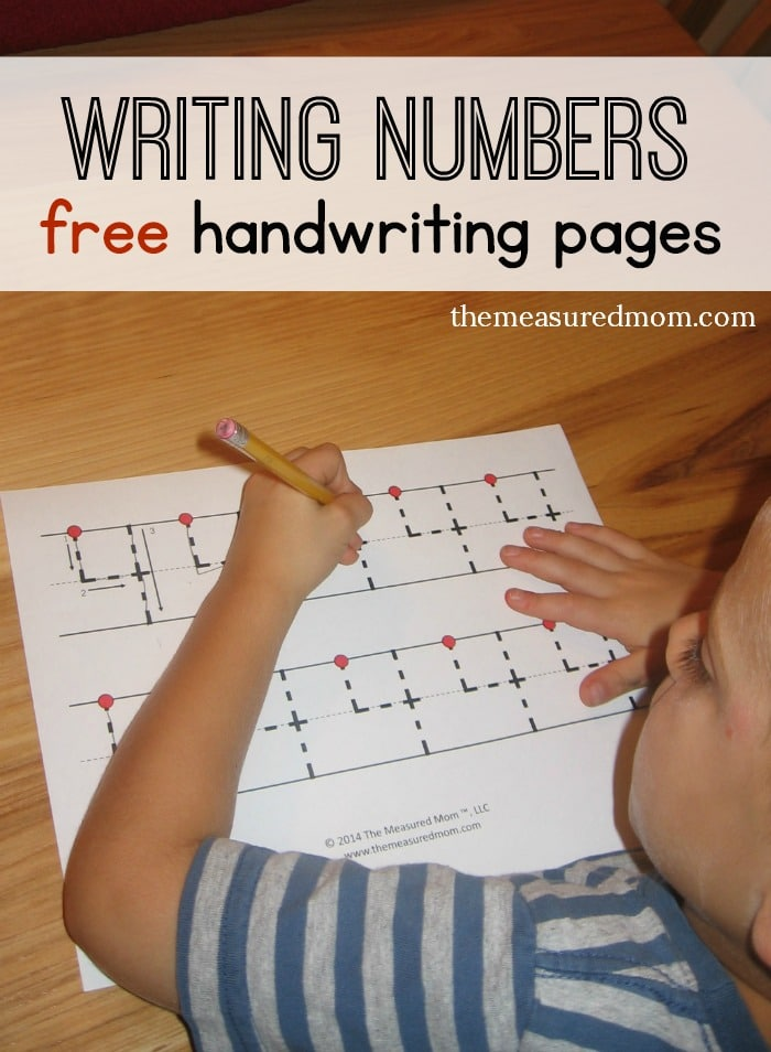 Free handwriting pages for writing numbers - 3 levels! - The