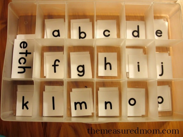 Free printable letter tiles for digraphs, blends, and word endings - word with the letters
