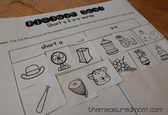 10 Free short a  a-e worksheets - The Measured Mom